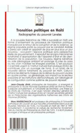 4eme TRANSITION POLITIQUE EN HAÏTI