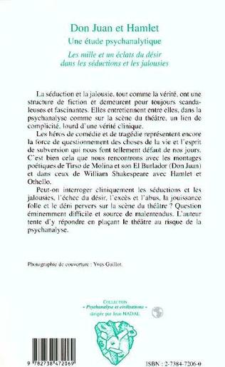 4eme Don Juan et Hamlet, une Etude Psychanalytique