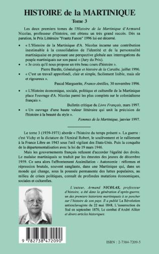 4eme Histoire de la Martinique
