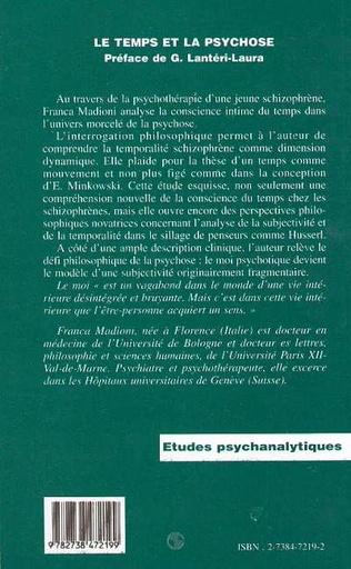 4eme Le Temps et la Psychose