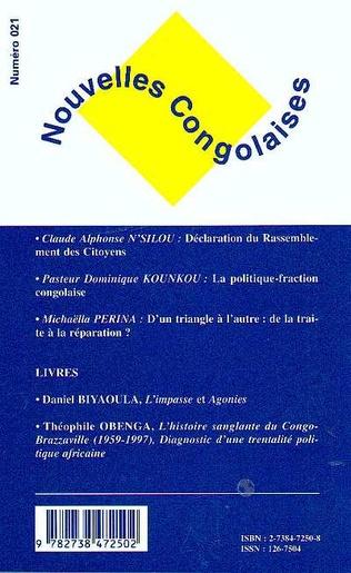 4eme NOUVELLES CONGOLAISES N° 21