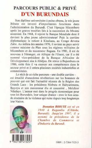 4eme PARCOURS PUBLIC ET PRIVE D'UN BURUNDAIS