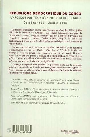 4eme RÉPUBLIQUE DÉMOCRATIQUE DU CONGO