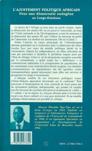 4eme L'AJUSTEMENT POLITIQUE AFRICAIN