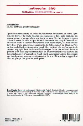 4eme AMSTERDAM, LA PLUS PETITE DES GRANDES METROPOLES