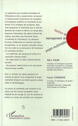 4eme GESTION ET MANAGEMENT DE PROJET MULTIMEDIA