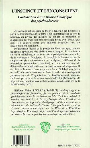 4eme L'INSTINCT ET L'INCONSCIENT