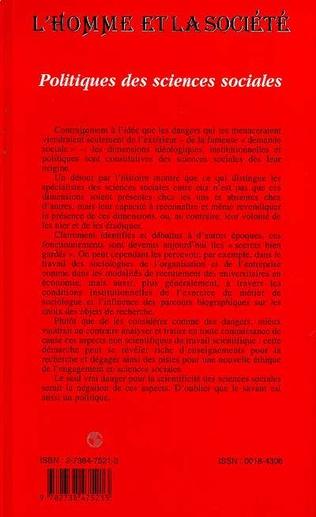 4eme POLITIQUES DES SCIENCES SOCIALES