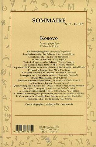 4eme La tragédie des Albanais du Kosovo