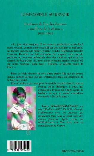 4eme L'IMPOSSIBLE AU REVOIR