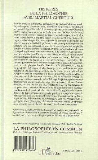 4eme HISTOIRES DE LA PHILOSOPHIE AVEC MARTIAL GUEROULT