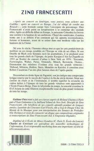 4eme ZINO FRANCESCATTI (1902-1991)