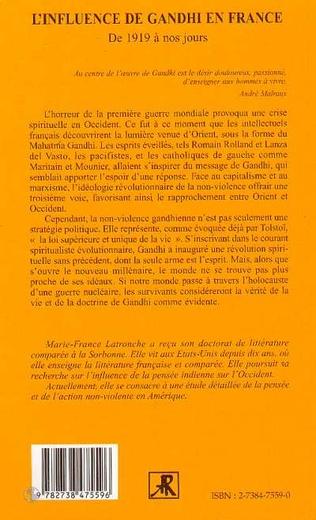 4eme L'INFLUENCE DE GANDHI EN FRANCE