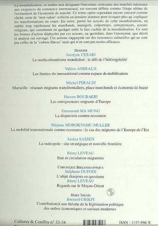 4eme LES ANONYMES DE LA MONDIALISATION (n°33-34)