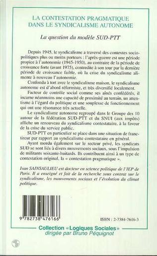 4eme LA CONTESTATION PRAGMATIQUE DANS LE SYNDICALISME AUTONOME