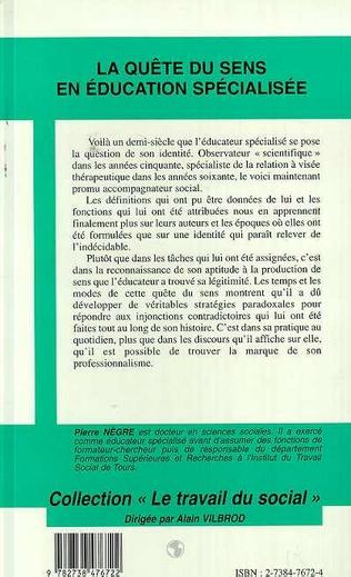 4eme LA QUETE DU SENS EN EDUCATION SPECIALISEE
