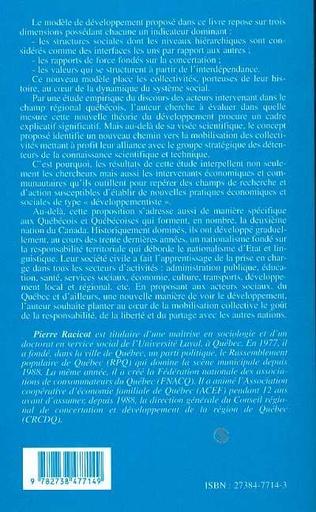 4eme DÉVELOPPEMENT ET RÉGIONALISATION AU QUÉBEC