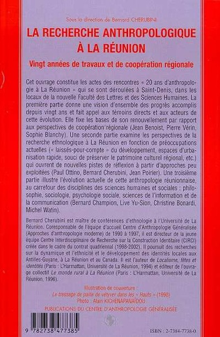 4eme LA RECHERCHE ANTHROPOLOGIQUE A LA REUNION