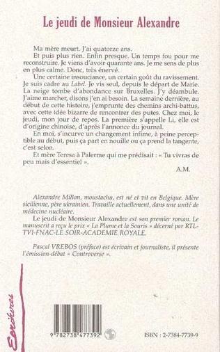 4eme LE JEUDI DE MONSIEUR ALEXANDRE