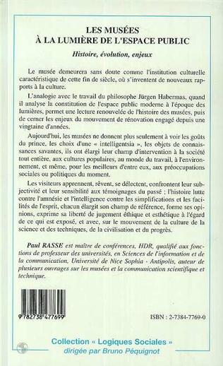 4eme LES MUSÉES A LA LUMIÈRE DE L'ESPACE PUBLIC