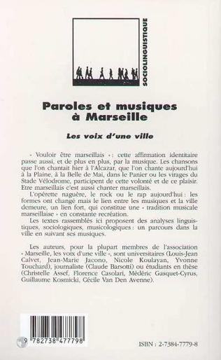 4eme PAROLES ET MUSIQUES A MARSEILLE
