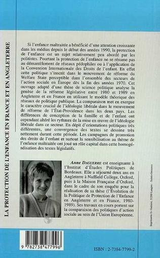 4eme PROTECTION DE L'ENFANCE EN FRANCE ET EN ANGLETERRE 1980-1989