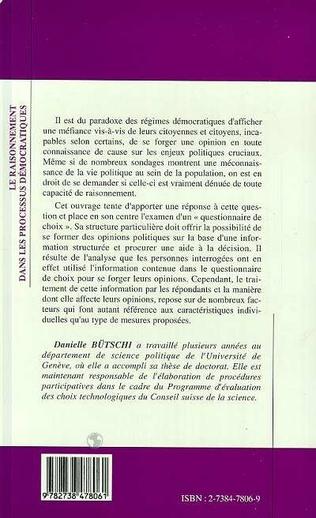 4eme LE RAISONNEMENT DANS LES PROCESSUS DÉMOCRATIQUES