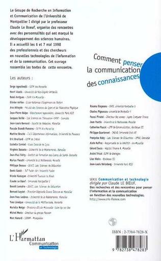 4eme COMMENT PENSER LA COMMUNICATION DES CONNAISSANCES