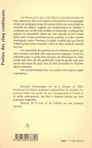 4eme POÈMES DE LA ROSE ET DE L'OLIVIER