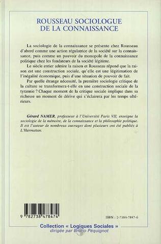4eme ROUSSEAU SOCIOLOGUE DE LA CONNAISSANCE
