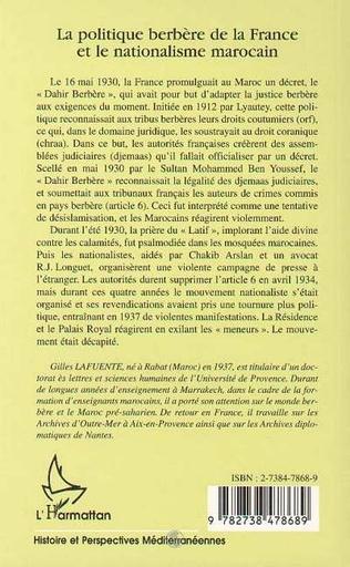 4eme LA POLITIQUE BERBÈRE DE LA FRANCE ET LE NATIONALISME MAROCAIN