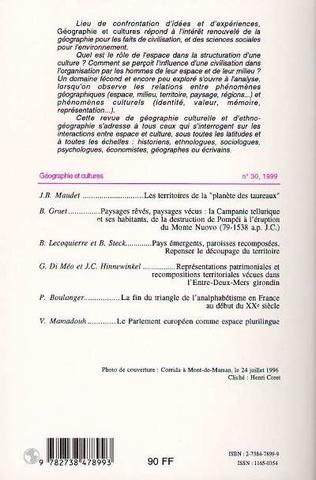 4eme LE TERRITOIRE AU CŒUR DE LA GÉOGRAPHIE CULTURELLE