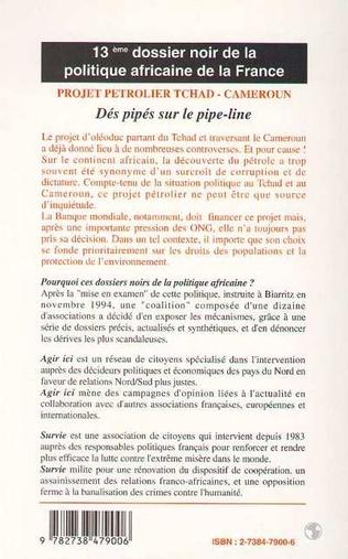 4eme PROJET PETROLIER TCHAD-CAMEROUN