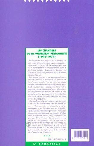 4eme Les chantiers de la formation permanente (1945-1971)