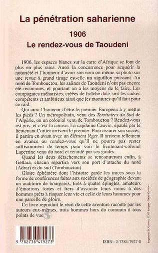 4eme La pénétration saharienne