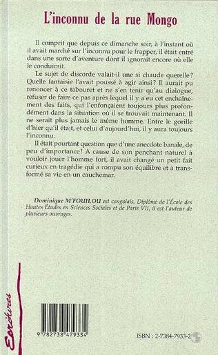 4eme L'INCONNU DE LA RUE MONGO