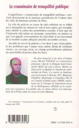 4eme LE COMMISSAIRE DE TRANQUILLITÉ PUBLIQUE