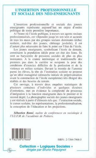 4eme L'INSERTION PROFESSIONNELLE ET SOCIALE DES NEO-ENSEIGNANTS