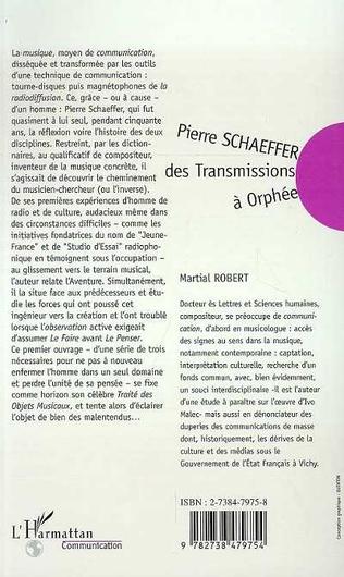 4eme Pierre Schaeffer : des transmissions à Orphée