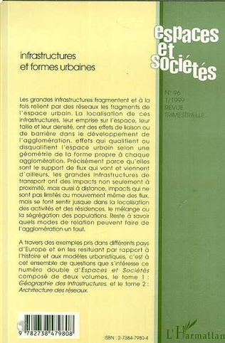 4eme INFRASTRUCTURES ET FORMES URBAINES (Tome 2)
