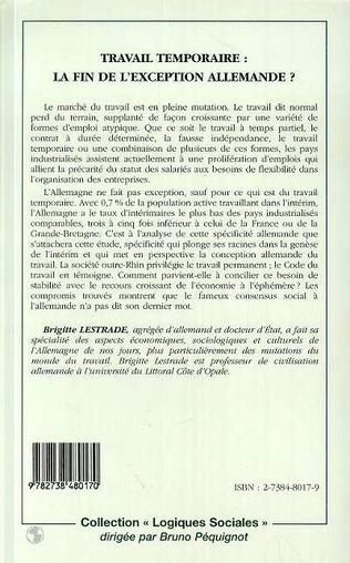4eme TRAVAIL TEMPORAIRE : LA FIN DE L'EXCEPTION ALLEMANDE ?
