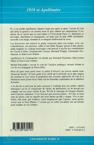 4eme 1918 et Apollinaire