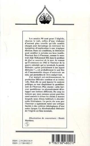 4eme PAYSAGES LITTERAIRES ALGERIENS DES ANNEES 90 : TEMOIGNER D'UNE TRAGEDIE ?