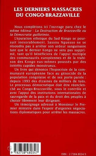 4eme LES DERNIERS MASSACRES DU CONGO-BRAZZAVILLE (NOVEMBRE - DECEMBRE 1998)