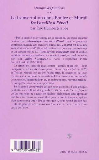 4eme LA TRANSCRIPTION DANS BOULEZ ET MURAIL