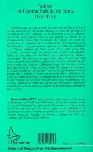 4eme VENISE ET L'ÉMIRAT HAFSIDE DE TUNIS (1231-1535)