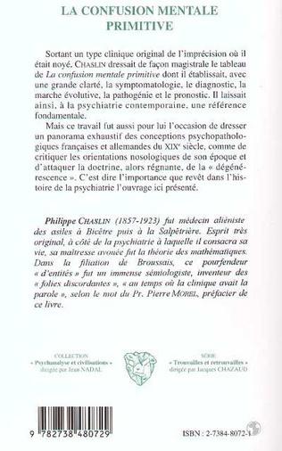 4eme LA CONFUSION MENTALE PRIMITIVE