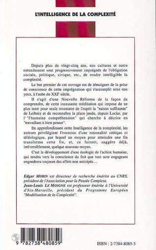 4eme L'INTELLIGENCE DE LA COMPLEXITÉ