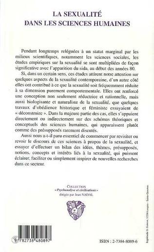 4eme LA SEXUALITE DANS LES SCIENCES HUMAINES