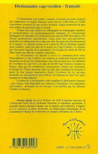 4eme DICTIONNAIRE CAP-VERDIEN - FRANÇAIS